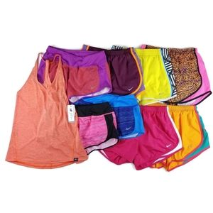 Lot of 9 Womens NIKE Small Lined Running Shorts